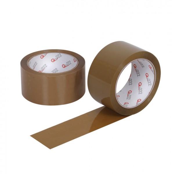PP- Klebeband Qtape® 222, 50 mm x 66 m braun, leise abrollend