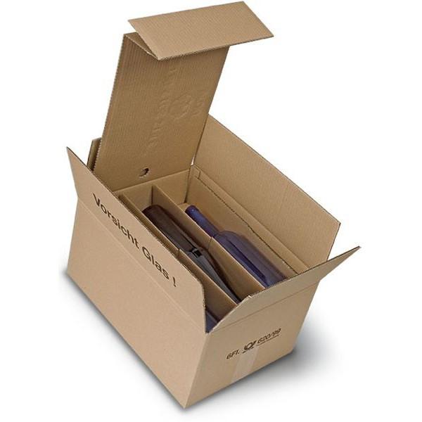 6er Kombiwell Flaschenkarton liegend 385x280x195 mm