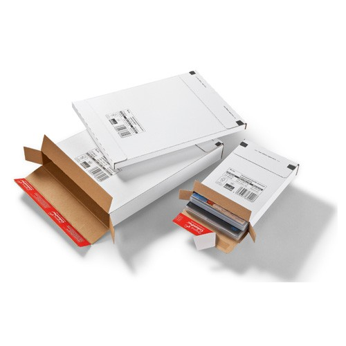 Großbrief Karton 344x244x15 mm, weiß