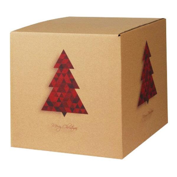 Modern bedruckte Weihnachtskartons 300x300x300 mm Motiv Tannebaum