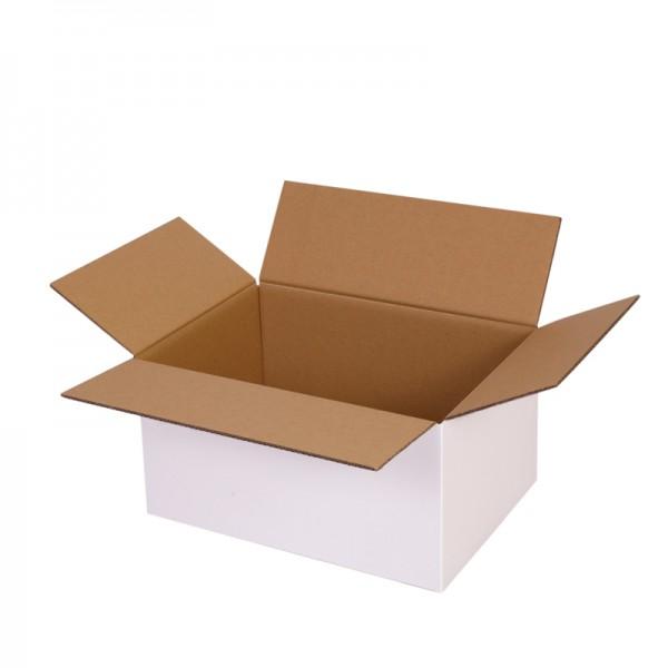zweiwellige Kartons, weiß 304x217x150 mm - offen