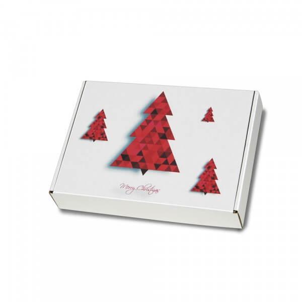 """festlich bedruckte Maxibriefkartons mit Weihnachtsmotiv """"Tannenbaum"""" 250x174x50 mm"""