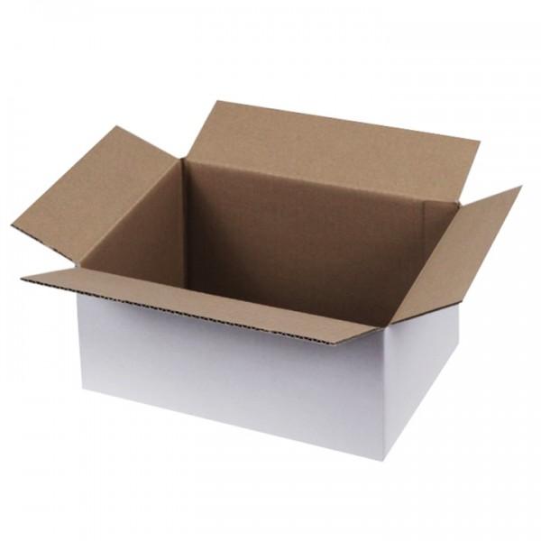 Weiße Kartons 400x300x200 mm einwellig