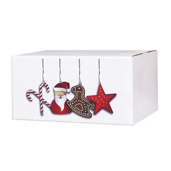 Modern bedruckte Weihnachtskartons 300x215x140 mm Motiv Nikolausdesign