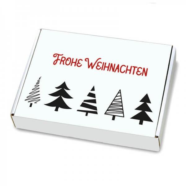 Maxibriefkartons mit  Weihnachtsmotiv Tannenbaumallee 350x250x50 mm