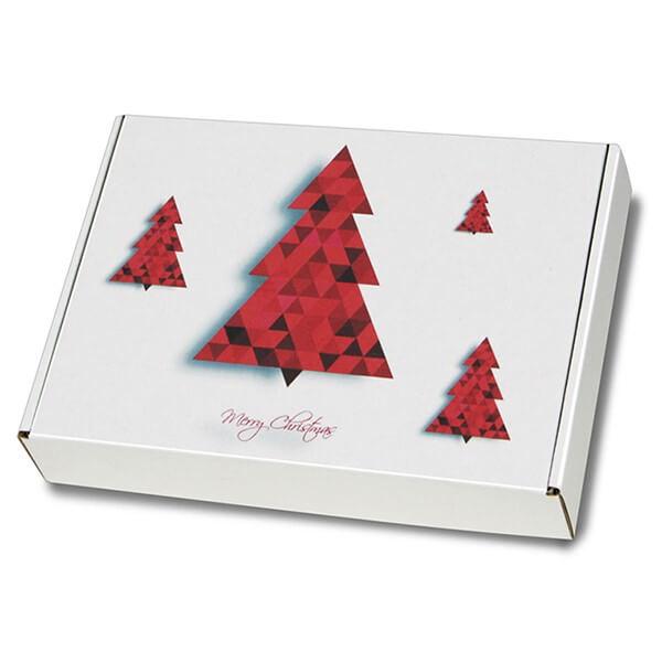 """festlich bedruckte Maxibriefkartons mit Weihnachtsmotiv """"Tannenbaum"""" 350x250x50 mm A4+"""