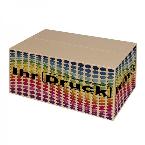 550x330x330 mm einwellige Kartons mit Digitaldruck (4 Seiten)