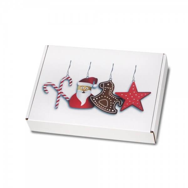 """festlich bedruckte Maxibriefkartons mit Weihnachtsmotiv """"Nikolausdesign"""" 250x174x50 mm"""