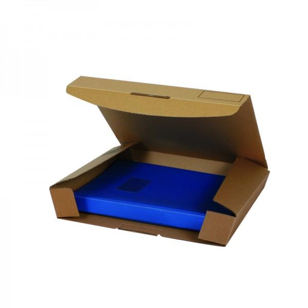 Ordner-Transport-Box Quick A4 320x288x80 mm braun, schneller Aufbau