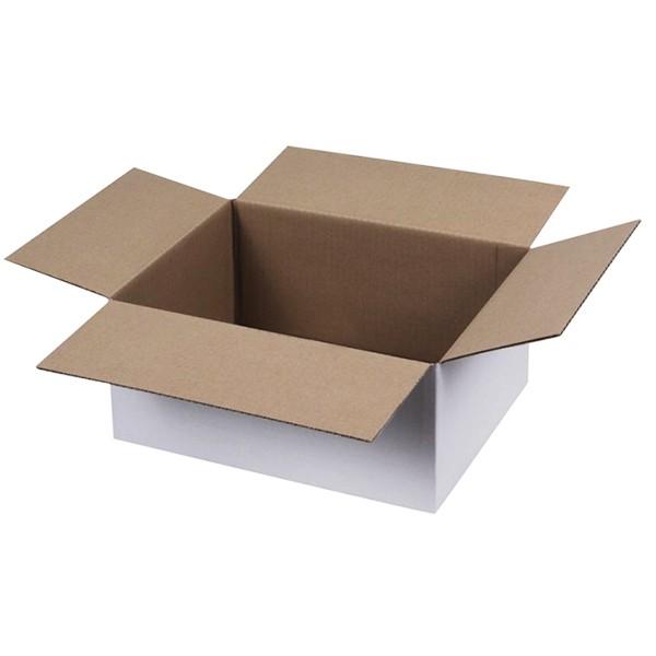 Weiße Kartons 300x215x140 mm einwellig