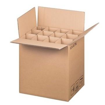 Einweg 12er Flaschenkartons für 0,75 L Flaschen inkl. Gefache