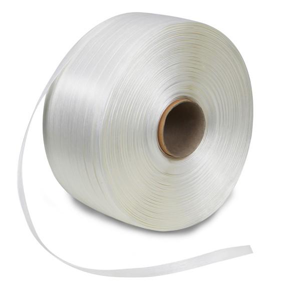 Ballenpressenband (Textilumreifungsband), weiß - 9 mm x 500 m
