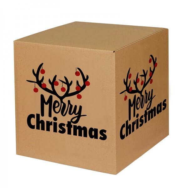 """bedruckte Weihnachtskartons """"Christmas Bells"""" 300x300x300 mm, B 1.20 b"""